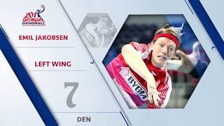 Emil Jakobsen (DEN) - All-star left wing | IHFtv - Georgia 2017 Men