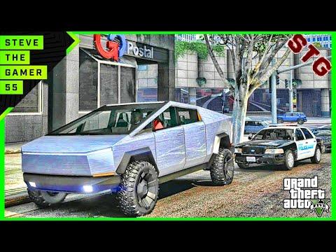 GTA 5 REAL LIFE MOD #712 - LET'S GO TO WORK!!!(GTA 5 REAL LIFE MODS) TESLA CYBERTRUCK
