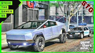GTA 5 REAL LIFE MOD #712 - LET'S GO TO WORK!!!(GTA 5 REAL LIFE MODS) TESLA CYBERTRUCK