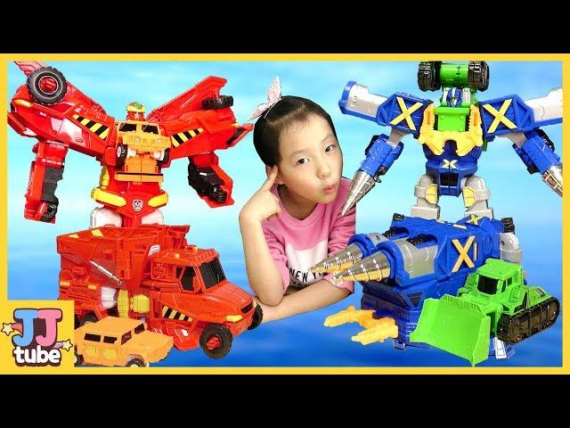 헬로카봇 시즌5 스타블래스터 프라우드제트 크랜 튜크 하이퍼빌디언 개봉 장난감 놀이 HelloCarbot Transformer Toy & Play [제이제이튜브  - JJtube]