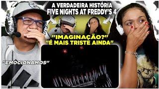 MINHA MÃE REAGINDO A VERDADEIRA HISTÓRIA DE FIVE NIGHTS AT FREDDY'S (parte 4) - HUEstation