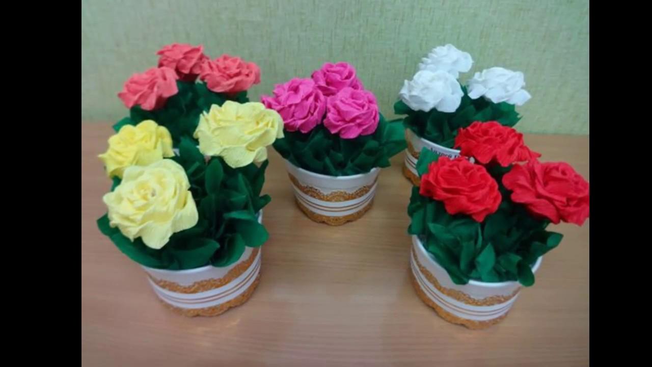 Как сделать объёмный цветок из гофрированной бумаги своими руками фото 488