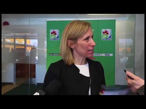 Women's World Cup team reps visit city