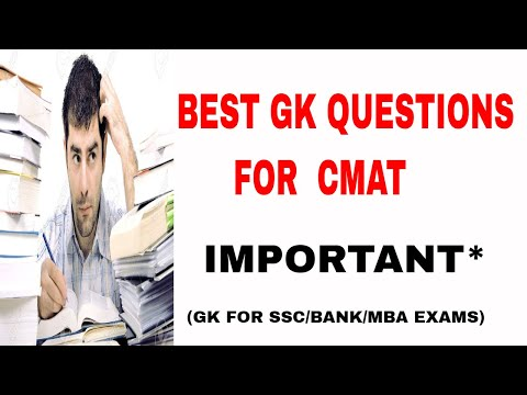 Important GK Questions & Current Affairs   TISS NET 2019   CMAT   MBA PREP