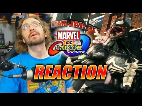 MAX REACTS (Extra Lazy): Venom, Winter Soldier, Black Widow DLC Reveal - Marvel Vs. Capcom Infinite