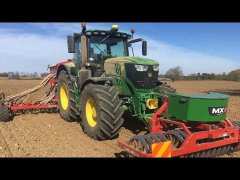 Drilling Spring Barley & John Deere Boundary Fill