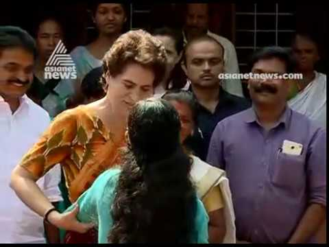 Priyanka Gandhi visits family of Pulwama attack victim Vasanth Kumar in Wayanad