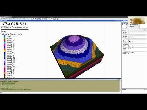 Geo Meshing - tutorial 1 - Meshing tool for Flac 3D