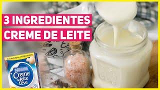 Receita de Creme de Leite Caseiro – 3 Ingredientes
