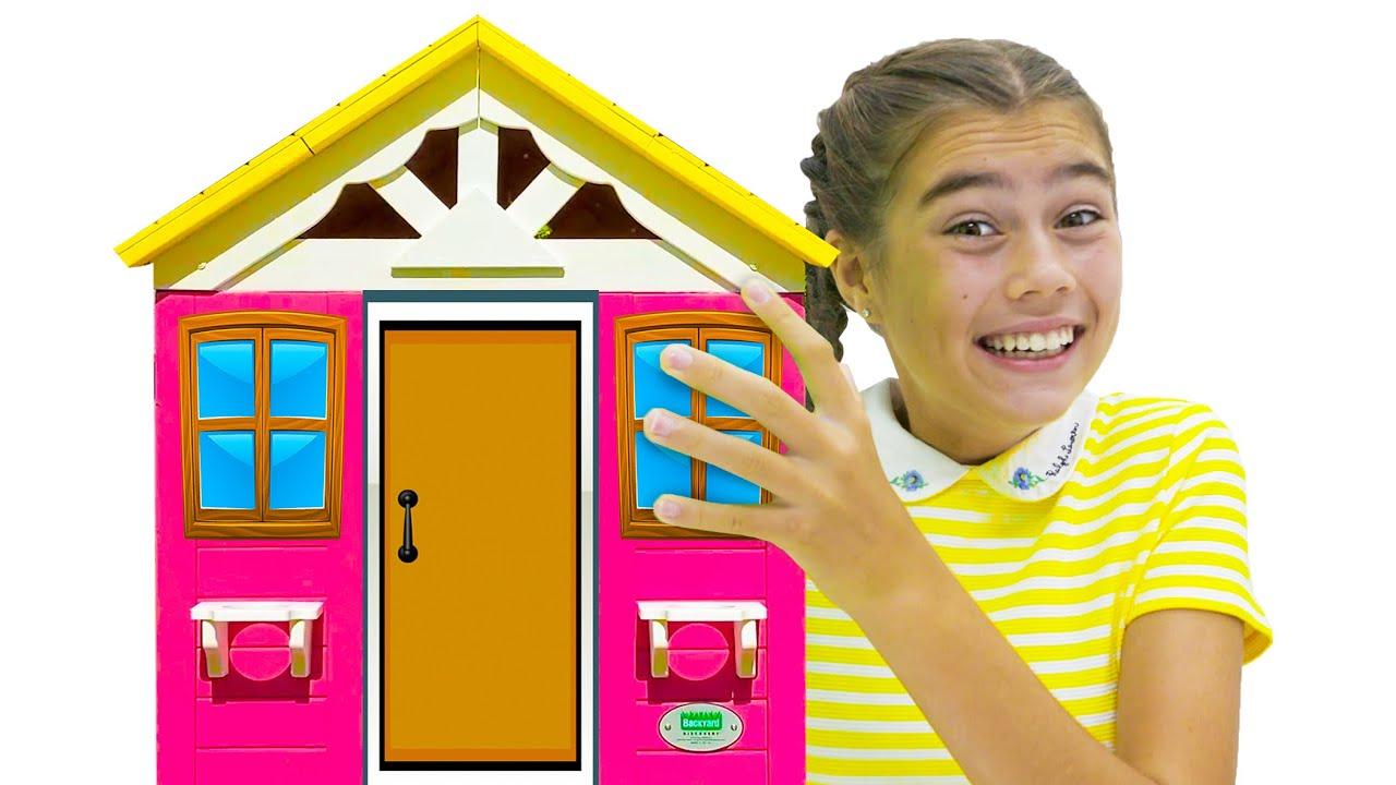 Nastya and a new playhouse for children | Настя и новый игровой домик для детей