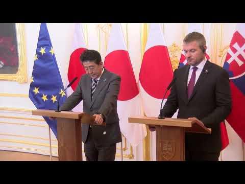 Japonský premiér je na Slovensku