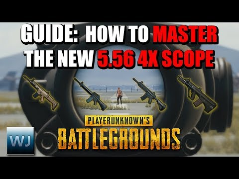 GUIDE: How to MASTER the NEW 5.56 4X Scope (Aim points + Range Finder) - PUBG