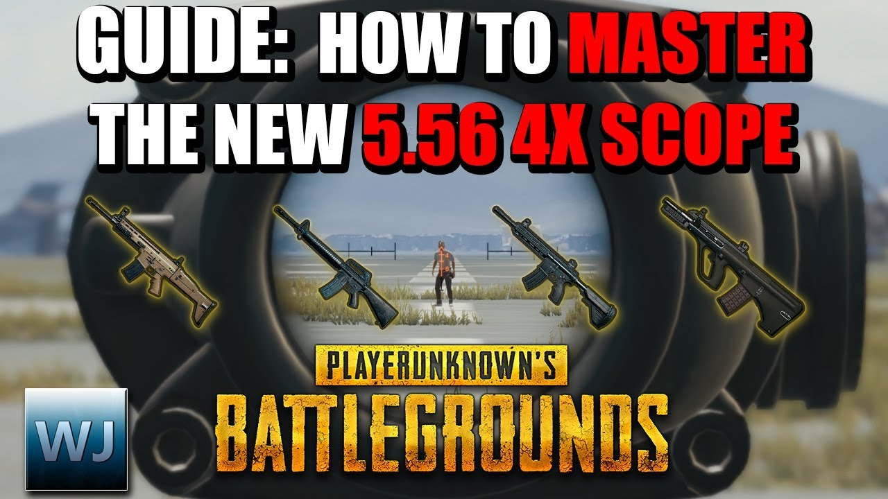 Download GUIDE: How to MASTER the NEW 5.56 4X Scope (Aim points + Range Finder) - PUBG