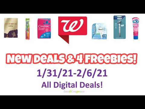 Walgreens New Deals and Freebies 1/31/21-2/6/21! All Digital Deals!