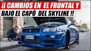 ¡¡ CAMBIO EL DISEÑO DEL FRENTE Y BAJO DEL CAPÓ DE MI SKYLINE GTR !! | Supercars of Mike