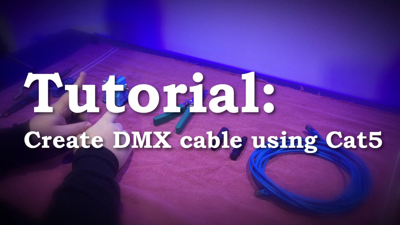 how to make a dmx cable tutorial [ 1280 x 720 Pixel ]