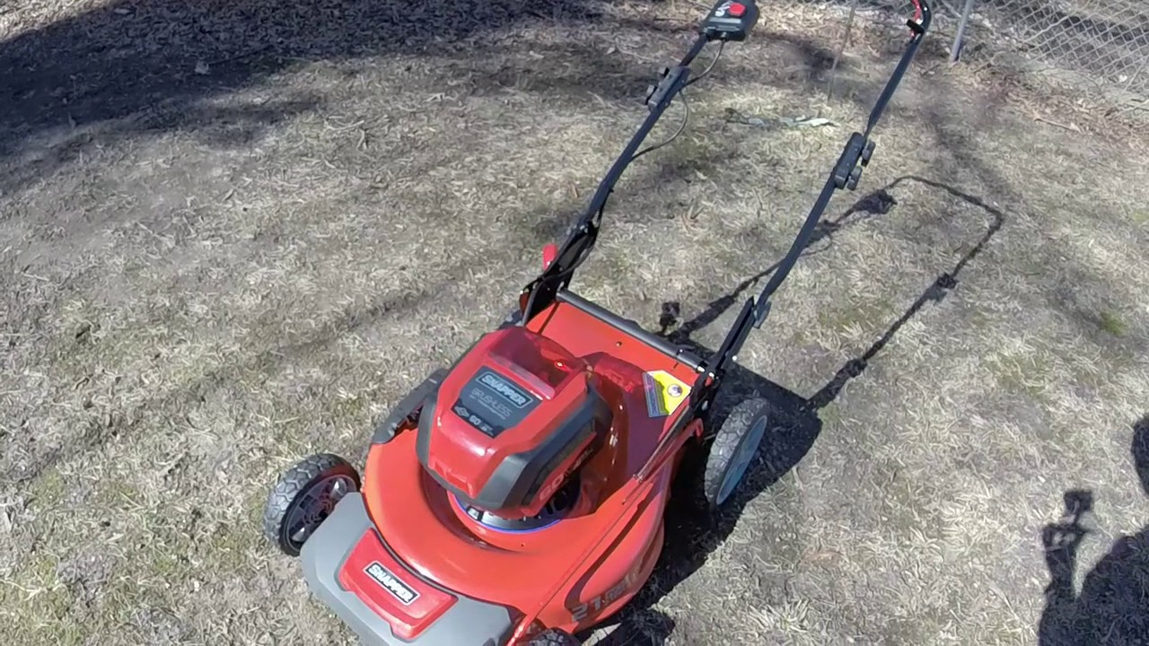 New Snapper 60v Battery Powered Push Mower Unboxing Running And Review Youtube
