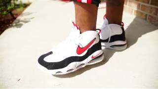 Nike Air Max Uptempo '95 Black/Red/White are Back On Foot - YouTube