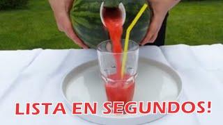 Tips Caseros-como Hacer Agua De Sandia En Segundos! Amaras Este Tip!