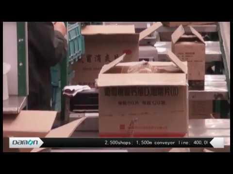 conveyor & sorter in E-commerce warehouse(pharma)【DAMON】