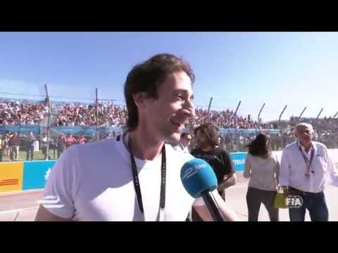 Long Beach ePrix - Adrien Brody grid interview