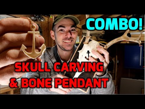 Skull Carving and Bone Pendant Carving (How To)