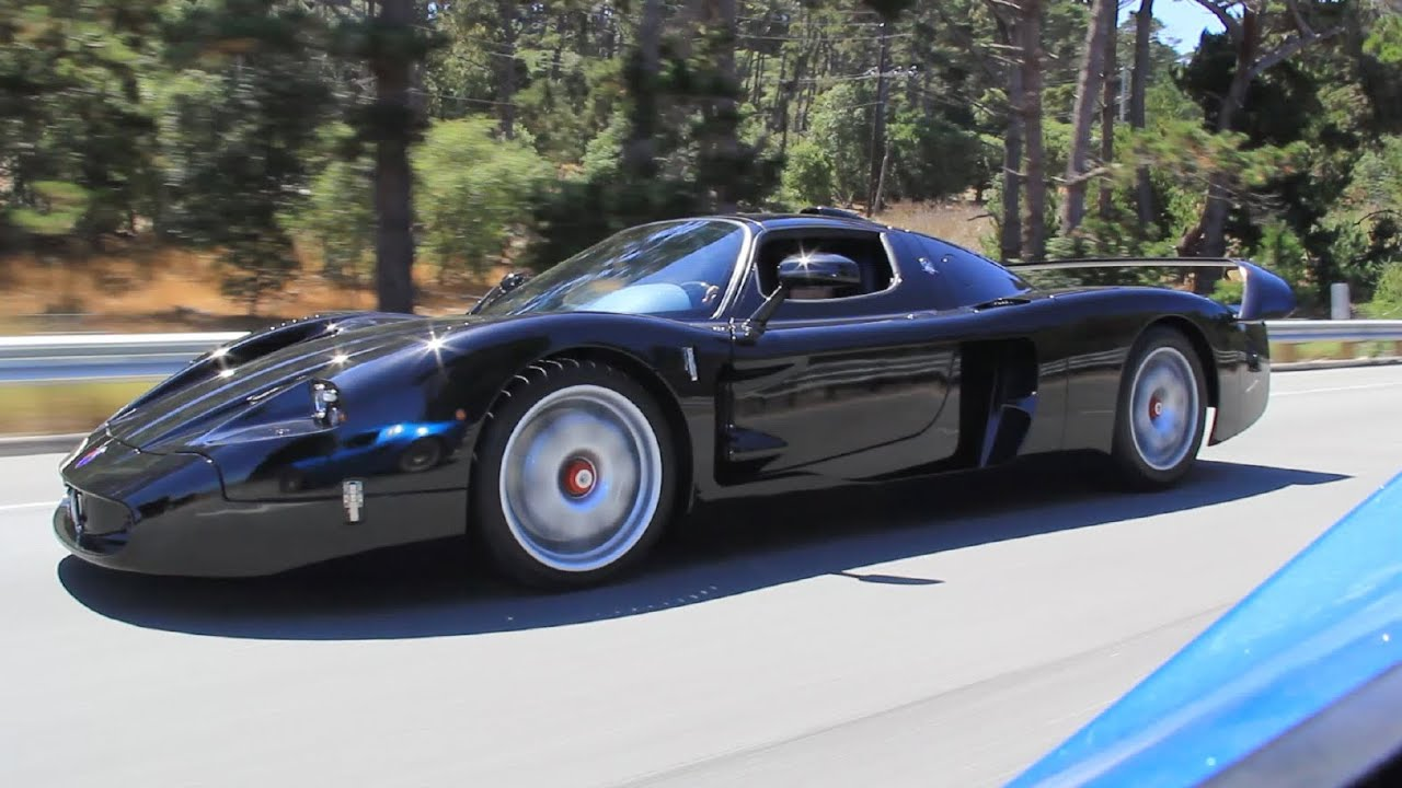 1 1 black maserati mc12 on the road youtube. Black Bedroom Furniture Sets. Home Design Ideas