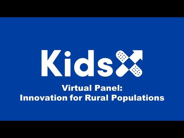 Virtual Panel: Innovation for Rural Pops
