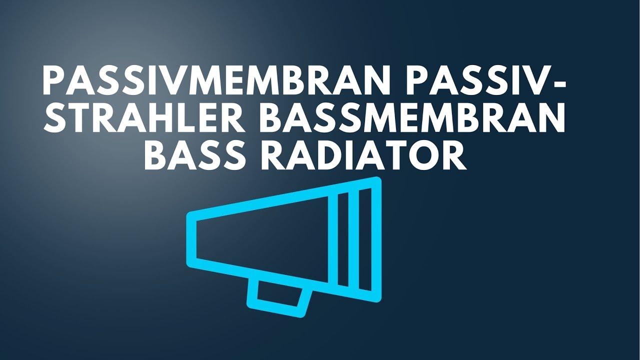 Jenor 2 St/ück Woofer Vibration Membran Bass Radiator Passive Lautsprecher Subwoofer DIY Reparatur Kit