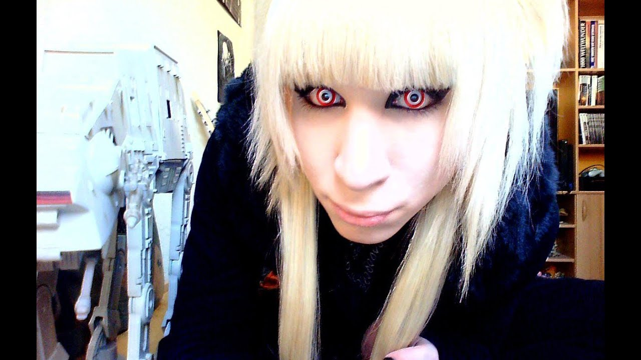 Blond Hair Androgynous Tranny Hair Visual Kei Emo J Rock Make Up