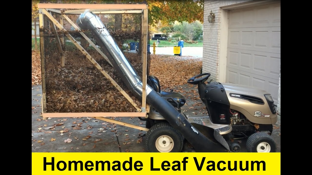 How To Build A Homemade Leaf Vacuum For 50 Diy Youtube