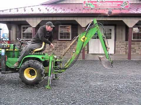 John Deere 400 Tractor Loader Backhoe On EBAY   YouTube