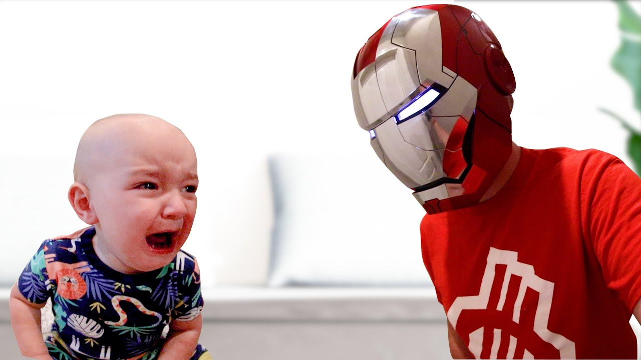 Baby TERRIFIED Of Iron Man