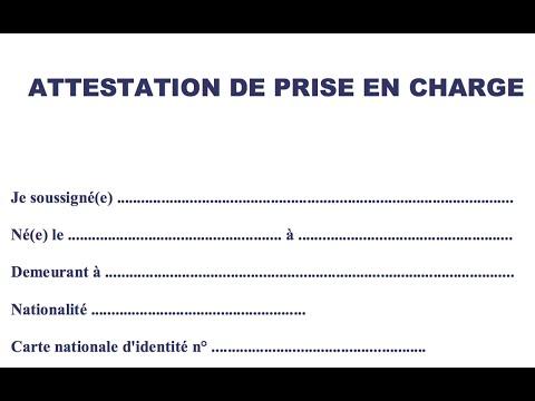 Attestation de prise en charge demande VISA Algériens