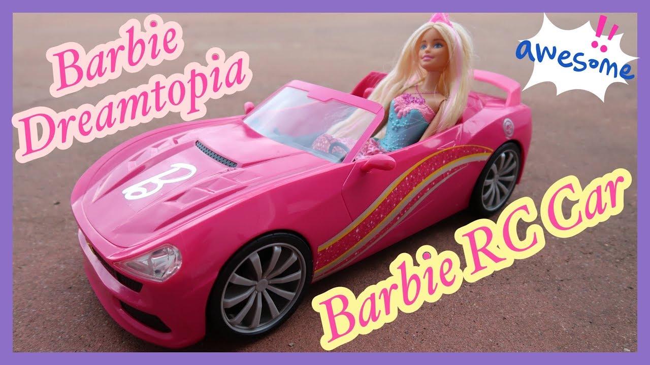 Barbie Dreamtopia Barbie Convertible Rc Car Ferrari Rc Car Youtube