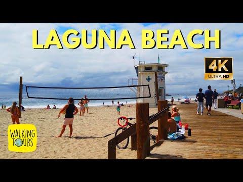 Heisler Park And Downtown Laguna Beach CA   4K Walking Tour