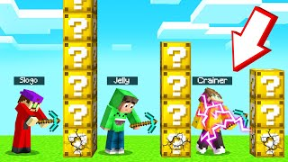 First To BREAK ALL LUCKY BLOCKS WINS! (Minecraft)