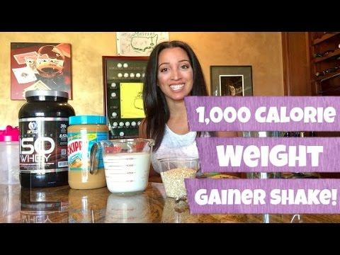 1,000 CALORIE WEIGHT GAINER SHAKE!