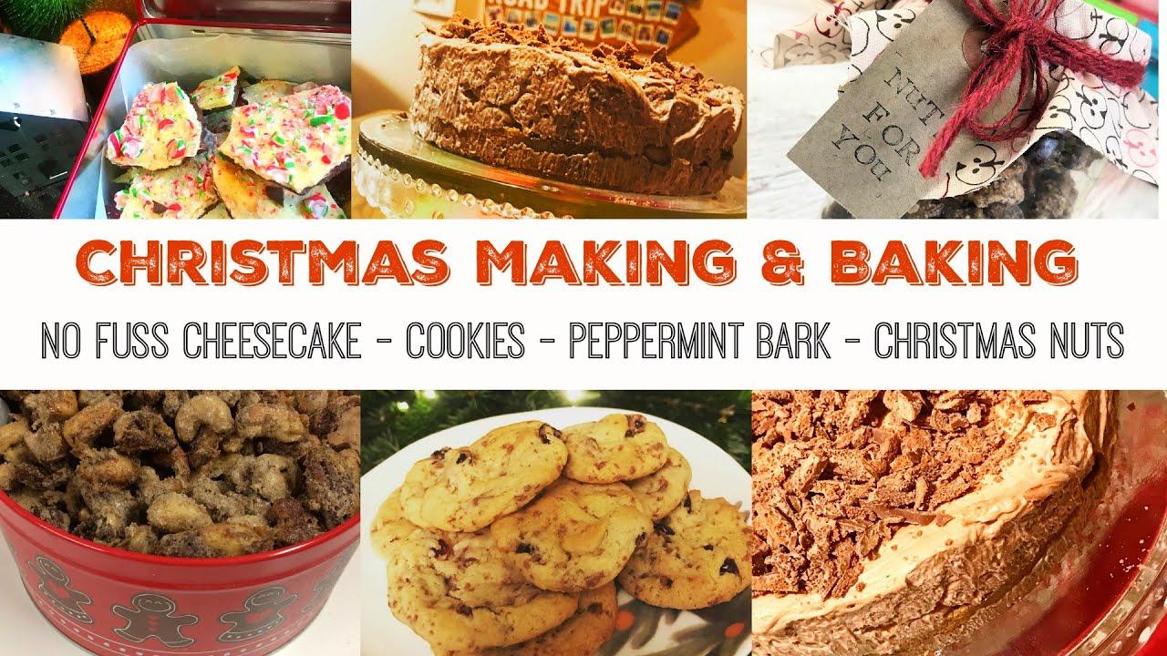 Christmas Baking Christmas Treats Bake With Me No Bake Cheesecake Cookies Christmas Nuts