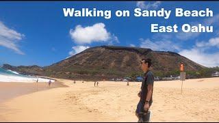 Walking Sandy Beach Testing my New Gopro 8 black