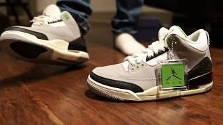 """3f14f1b5ea8 Air Jordan 3 """"Chlorophyll"""" (Dope or Nope) + On Foot"""