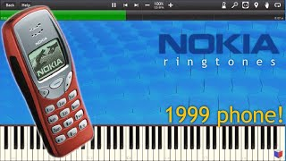 NOKIA 3210 RINGTONES IN SYNTHESIA - Piano Tutorial