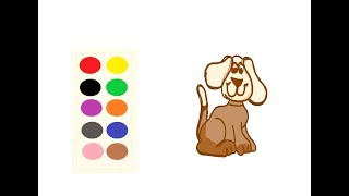 Lets DRAW and Colour a PUPPY WITH MIA