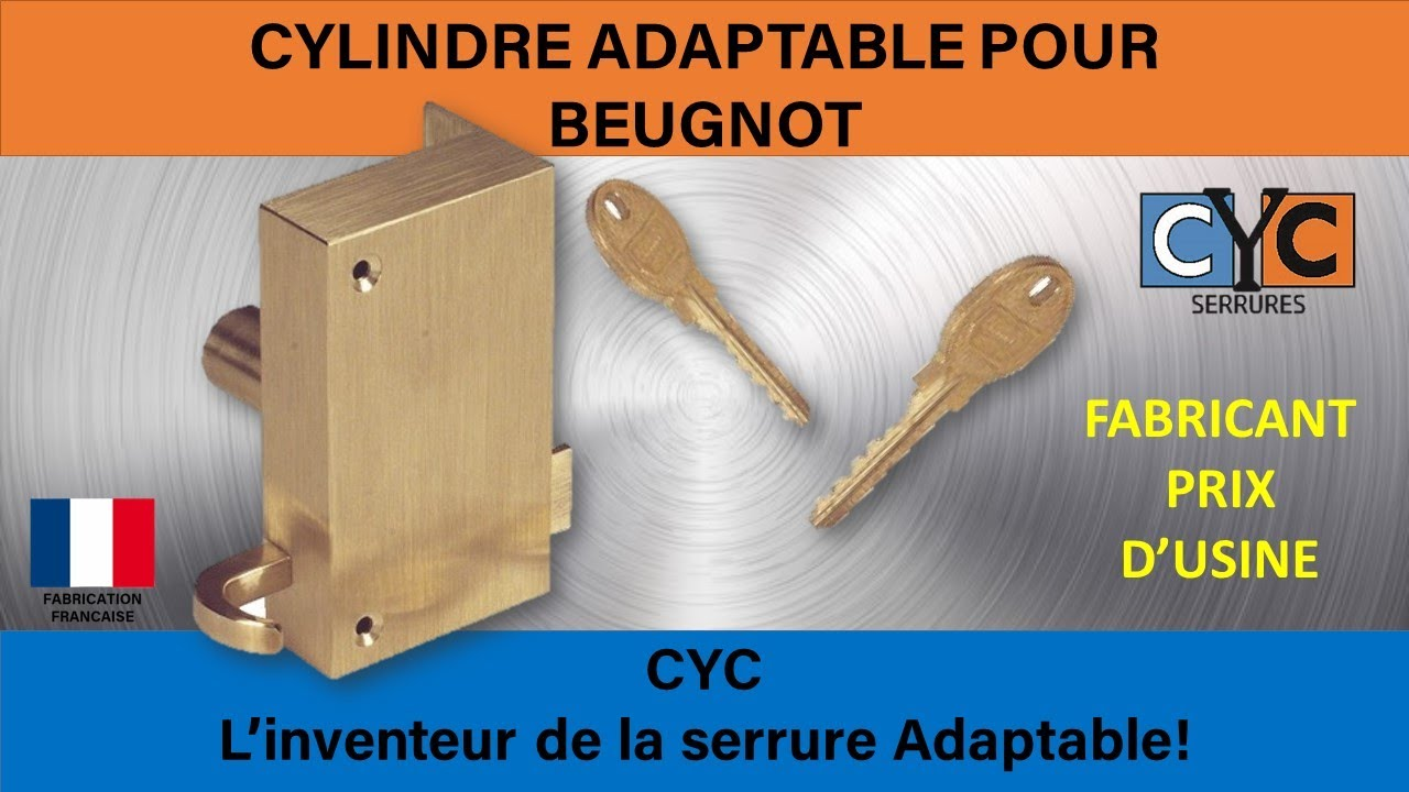 BEUGNOT serrure adaptée en clé CYC REF BEUGNOT PORTE ENTREE IMMEUBLE ...