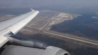 Lufthansa Airbus A319-100 Take Off from Frankfurt am Main International Airport