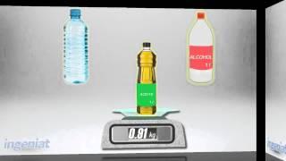 Peso de un litro agua