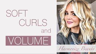 Soft Curls and Volume Hair tutorial - Harmonize_Beauty