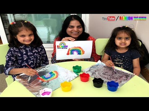 Learn Painting for Kids On Kitchen Foil Baby Girls Learning Colors Fun Paint Activity for Toddlers