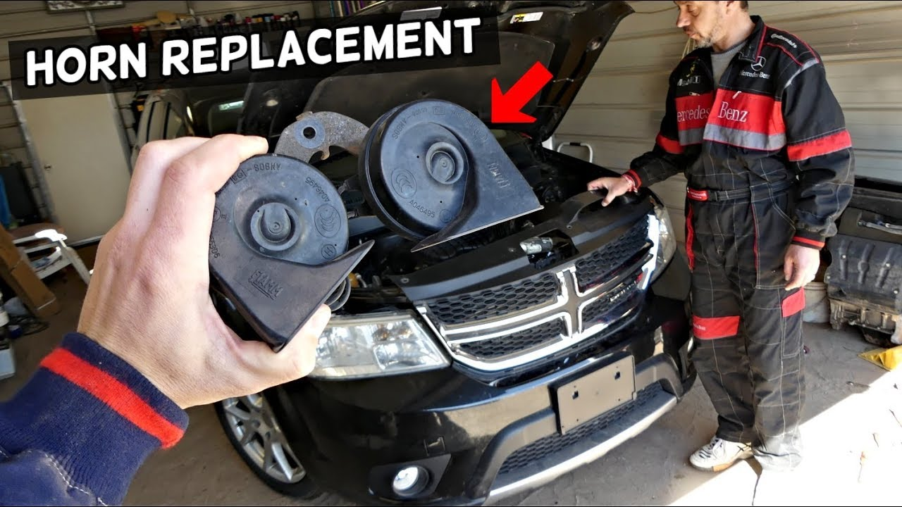 Dodge Journey Horn Replacement Location Fiat Freemont Youtube