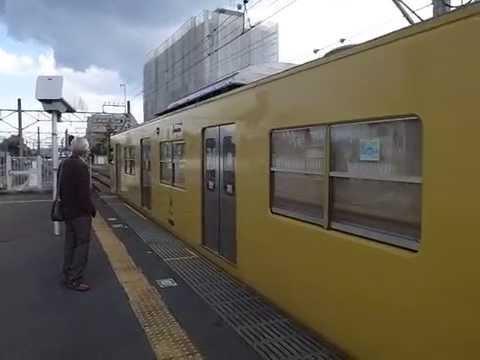 Seibu Line Arriving at Ogawa Station 西武線 小川駅 140404